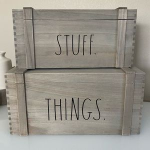 Rae Dunn STUFF & THINGS wooden crates